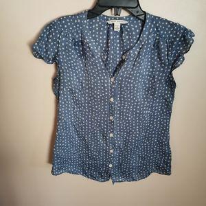 Banana Republic petite silk blouse size S